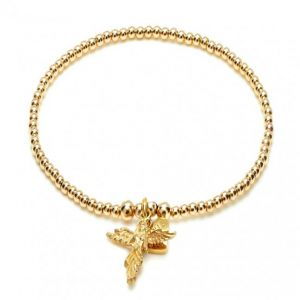 Annie Haak Santeenie Gold My Guardian Angel Charm Bracelet