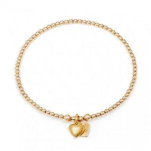 Annie Haak Santeenie Gold Puffed Heart Charm Bracelet