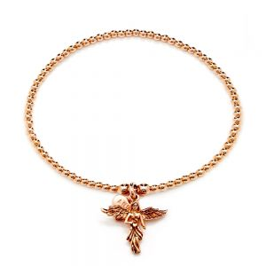 Annie Haak Santeenie Rose Gold My Guardian Angel Bracelet