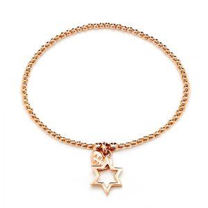 Annie Haak Santeenie Rose Gold Open Star Bracelet