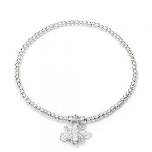 Annie Haak Santeenie Silver Charm Bracelet - Bee
