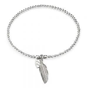 Annie Haak Santeenie Silver Feather Bracelet