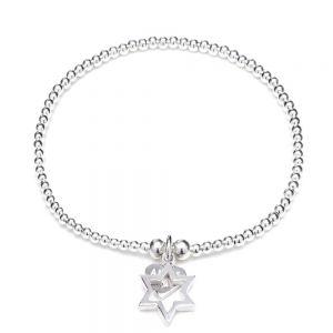 Annie Haak Santeenie Silver Charm Bracelet - Open Star