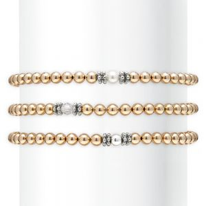 Annie Haak Seri Gold Bracelet with Clear Crystal Bead