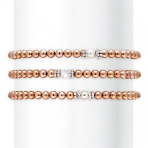 Annie Haak Seri Rose Gold Bracelet with Silver Bead