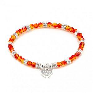 Annie Haak Swarovski Sparkle Bracelet - Fire Opal