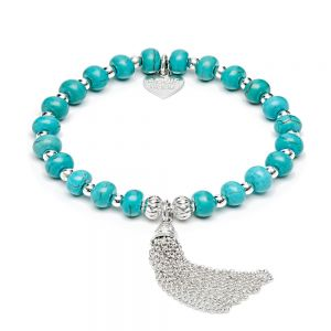Turquoise Tassel Silver