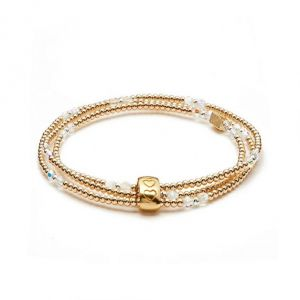 Annie Haak Blissful Swarovski Gold Looped Bracelet