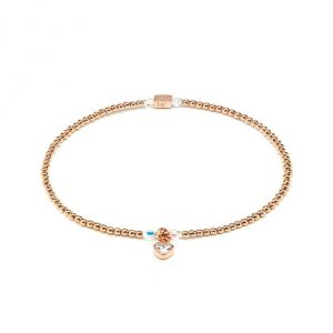 Annie Haak Blissful Swarovski Heart Crystal Rose Gold Charm Bracelet