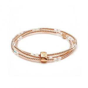 Annie Haak Blissful Swarovski Rose Gold Looped Bracelet