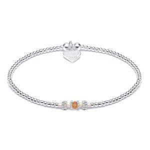 Annie Haak Boho Silver Bracelet - Dusky Pink