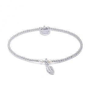 Annie Haak Bulu Silver Charm Bracelet -Pearl