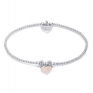 Annie Haak Gala Silver Charm Bracelet - Dusky Pink