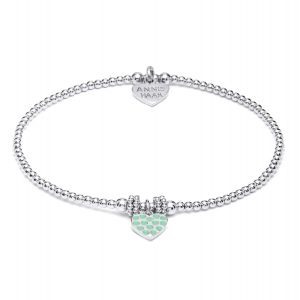 Annie Haak Gala Silver Charm Bracelet - Turquoise