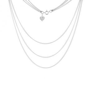 Annie Haak Honey Three Tier Silver Necklace