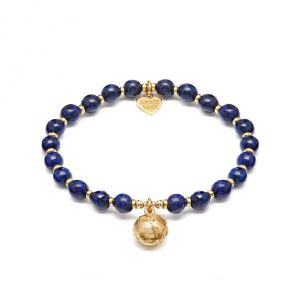 Annie Haak Lapis Lazuli Gold Globe Charm Bracelet
