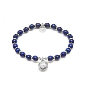 Annie Haak Lapis Lazuli Silver Globe Charm Bracelet