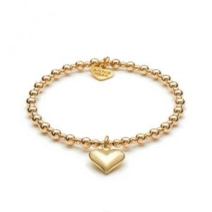 Annie Haak Mini Orchid Gold Charm Bracelet - Solid Heart