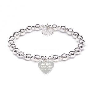 Annie Haak Orchid Silver Charm Bracelet - Live Well