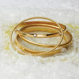 Annie Haak Twisted Gold Bangle