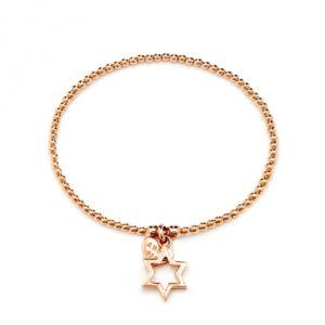 Annie Haak Santeenie Rose Gold Charm Bracelet - Open Star
