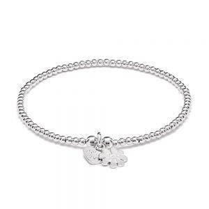 Annie Haak Orchid Silver Charm Bracelet - Flower