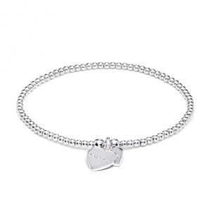 Annie Haak Santeenie Silver Charm Bracelet - Love You