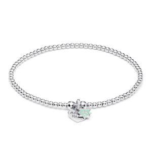 Annie Haak Santeenie Silver Charm Bracelet - Turquoise Daisy