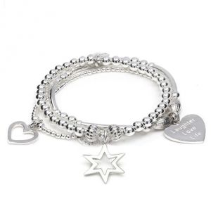 Annie Haak Santi Star Bracelet Stack - Laughter Love Life