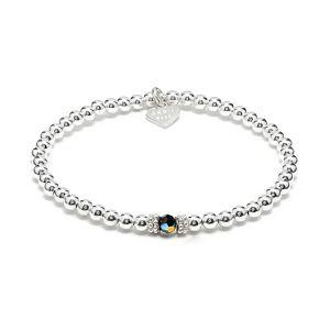 Annie Haak Seri Silver Bracelet with Jet Black Bead