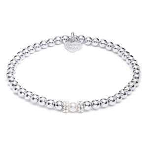Annie Haak Seri Silver Bracelet with Pearl Bead - Large