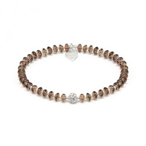 Annie Haak Smokey Quartz and Silver Knot Bracelet