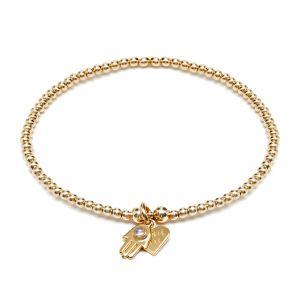Annie Haak Santeenie Gold Fatima Hand Bracelet