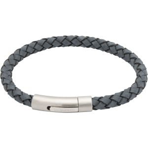 Unique and Co Men's Leather Bracelet, Antique Blue