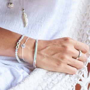 Annie Haak Blue Lagoon Infinity Silver Friendship Bracelet