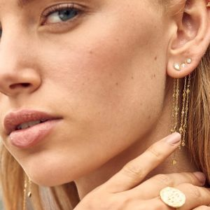Ania Haie Bohemia Shimmer Drop Earrings - Gold