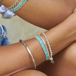 Annie Haak Boho Silver Bracelet - Turquoise