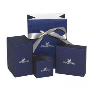 Swarovski Lifelong Bow Set, White, Rhodium Plating