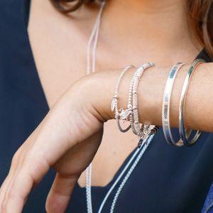 Annie Haak Bulu Silver Charm Bracelet - Pearl