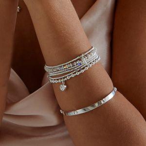 Annie Haak Bulu Silver Charm Bracelet - Clear Crystal