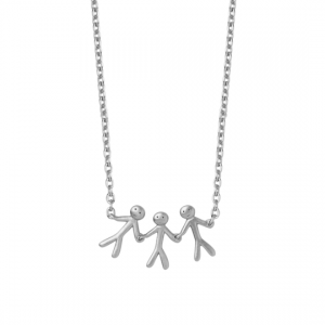 byBiehl Together Family 3 Silver Necklace