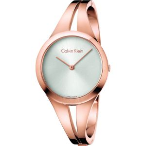 Calvin Klein Ladies Addict Bangle Watch, Rose Gold Tone