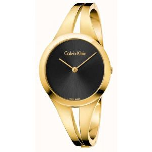 Calvin Klein Ladies Addict Bangle Watch, Gold Tone
