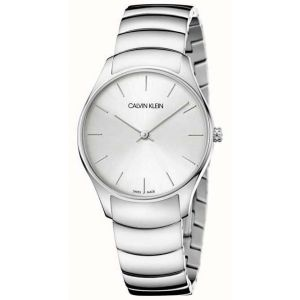 Calvin Klein Unisex Classic Too Watch, Silver Tone