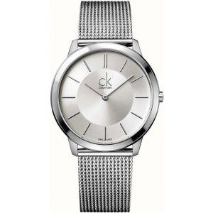 Calvin Klein Mens Minimal Watch, Silver Tone