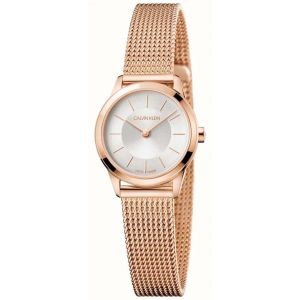 Calvin Klein Ladies Minimal Watch, Rose Gold Tone