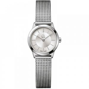 Calvin Klein Ladies Minimal Watch, Silver Tone