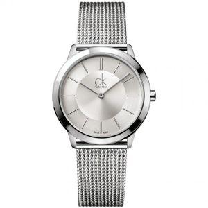 Calvin Klein Mens Minimal Watch, Silver Tone K3M21126