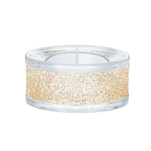 Swarovski Crystal Shimmer Tea Light Holder, Gold Tone