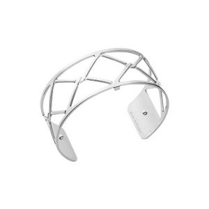 Les Georgettes Cannage 25 mm Silver Finish Bangle